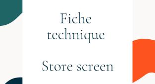 Fiche technique des stores screen